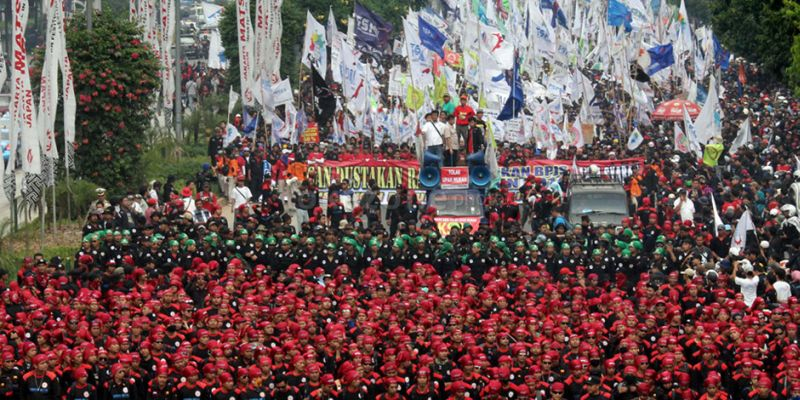 May Day, 50.000 Buruh Turun  ke Jalan